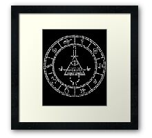 gravity falls bill cipher wheel Framed Print