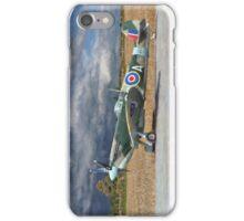 Spitfire under Storm Clouds - Portrait iPhone Case/Skin