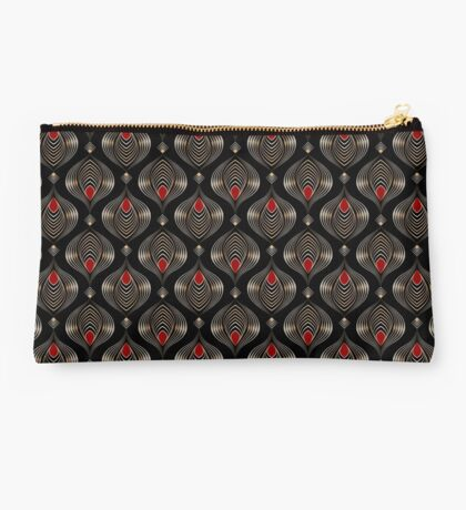 Seamless beautiful antique art deco pattern ornament. Geometric background design, repeating texture. Studio Pouch