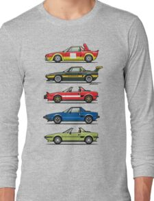 Stack of FlAT X1/9 Mid Engine Sport Cars Long Sleeve T-Shirt