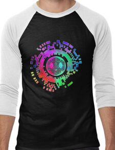 Skycode; Sombra (Digital Multicolor) Men's Baseball ¾ T-Shirt