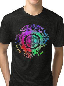 Skycode; Sombra (Digital Multicolor) Tri-blend T-Shirt