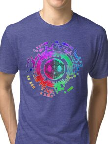 Skycode; Sombra (Digital Multicolor) Tri-blend T-Shirt