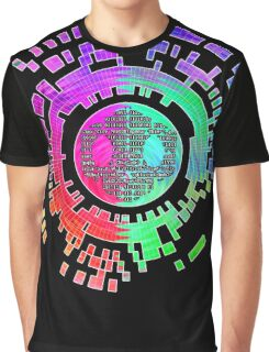 Skycode; Sombra (Digital Multicolor) Graphic T-Shirt