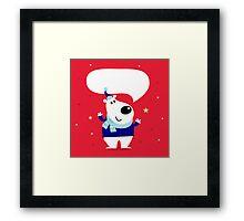 New in shop : Cute polar bear / Christmas 2016 edition Framed Print