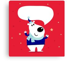 New in shop : Cute polar bear / Christmas 2016 edition Canvas Print