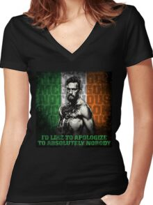Conor McGregor - Apologize To Absolutely Nobody Women's Fitted V-Neck T-Shirt