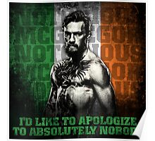 Conor McGregor - Apologize To Absolutely Nobody Poster