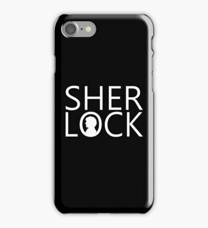 Sherlock - Benedict Cumberbatch (Black) iPhone Case/Skin