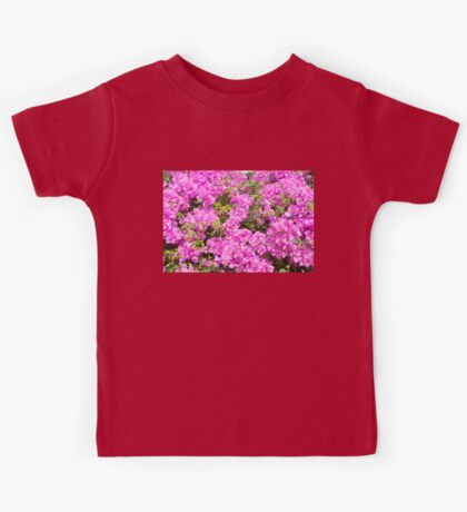 Red Flower Blossoms Kids Tee