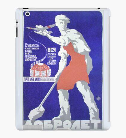 Vintage soviet air poster iPad Case/Skin