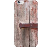 Rustic Red Gray Weathered Wood Door  iPhone Case/Skin