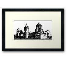Minsk, Belarus, Europe. historic castle.  Framed Print