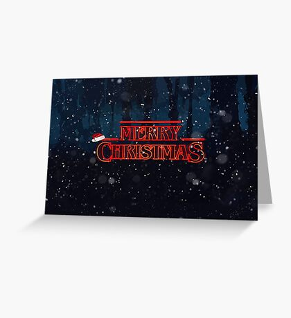 Stranger Things Christmas Card Greeting Card