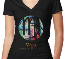 Virgo Zodiac Signs  Women's Fitted V-Neck T-Shirt