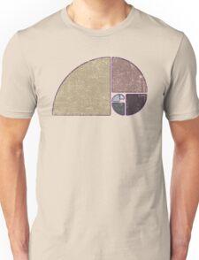 Fibonacci - The Golden Spiral in Geometry with Earth tones Unisex T-Shirt
