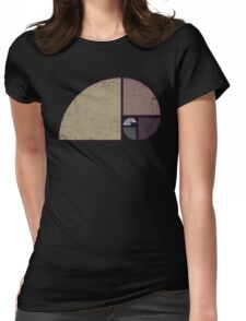 Fibonacci - The Golden Spiral in Geometry with Earth tones T-Shirt
