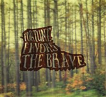 Fortune Favors the Brave Hiking Boot in Forest by Beverly Claire Kaiya