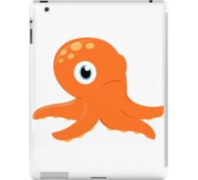 Orange underwater Octopus : for Kids iPad Case/Skin