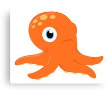 Orange underwater Octopus : for Kids Canvas Print
