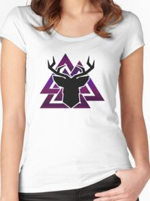 Oh deer... Women's Fitted Scoop T-Shirt