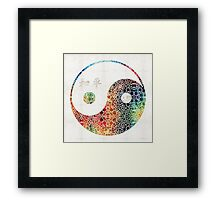 Yin And Yang - Colorful Peace - By Sharon Cummings Framed Print