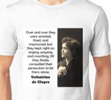 Over And Over They Were Arrested - de Cleyre Unisex T-Shirt