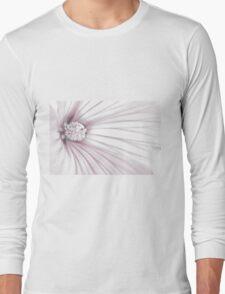 Lavatera Flower Stamen Macro  Long Sleeve T-Shirt