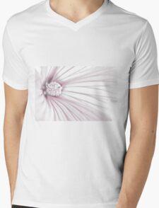 Lavatera Flower Stamen Macro  Mens V-Neck T-Shirt