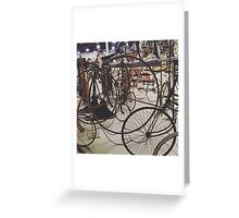 Antique Bicycles Greeting Card