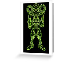Super Metroid Schematic Greeting Card