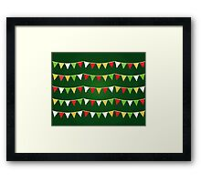 Christmas bunting for your party / Dark green Framed Print