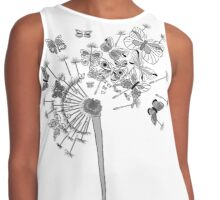 Clocks and Buterflies Contrast Tank