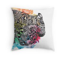 Wombat with Dododoodles and Watercolour Throw Pillow