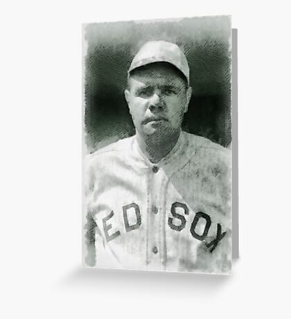 Babe Ruth, Baseball Player Greeting Card