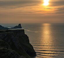 Sunset over Worm's Head by Nick Jenkins