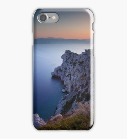 Sunset at the lighthouse iPhone Case/Skin