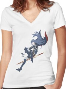 Lucina (Simplistic) Women's Fitted V-Neck T-Shirt