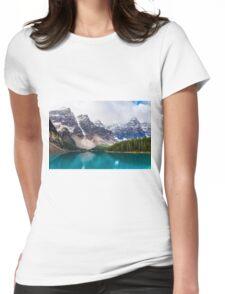 Moraine Lake, Alberta, CA. Womens Fitted T-Shirt