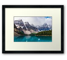 Moraine Lake, Alberta, CA. Framed Print