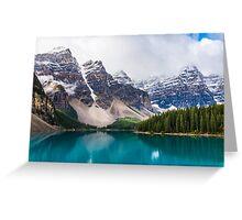 Moraine Lake, Alberta, CA. Greeting Card