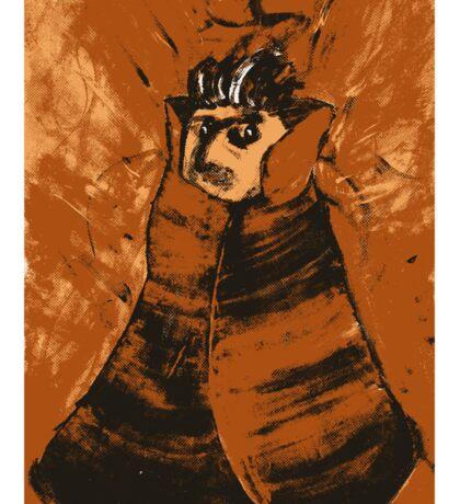Portrait Of A Magician In Orange Sticker
