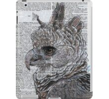 Harpy Eagle on Dictionary Paper iPad Case/Skin