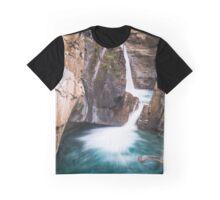 Johnston Canyon Waterfall Graphic T-Shirt