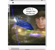 Dr Who Makes a Mistake iPad Case/Skin