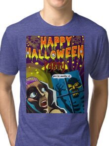 Happy Halloween Party Tri-blend T-Shirt