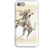 FREDERIC REMINGTON () A Rearer () pen & ink and gouache on paper iPhone Case/Skin
