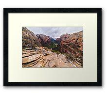 Angel's Landing, Zion National Park Framed Print