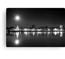 Supermoon rising over Kings Lynn harbour Canvas Print