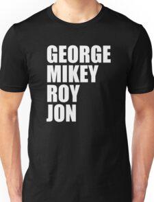 GEORGE MIKEY ROY JON Unisex T-Shirt